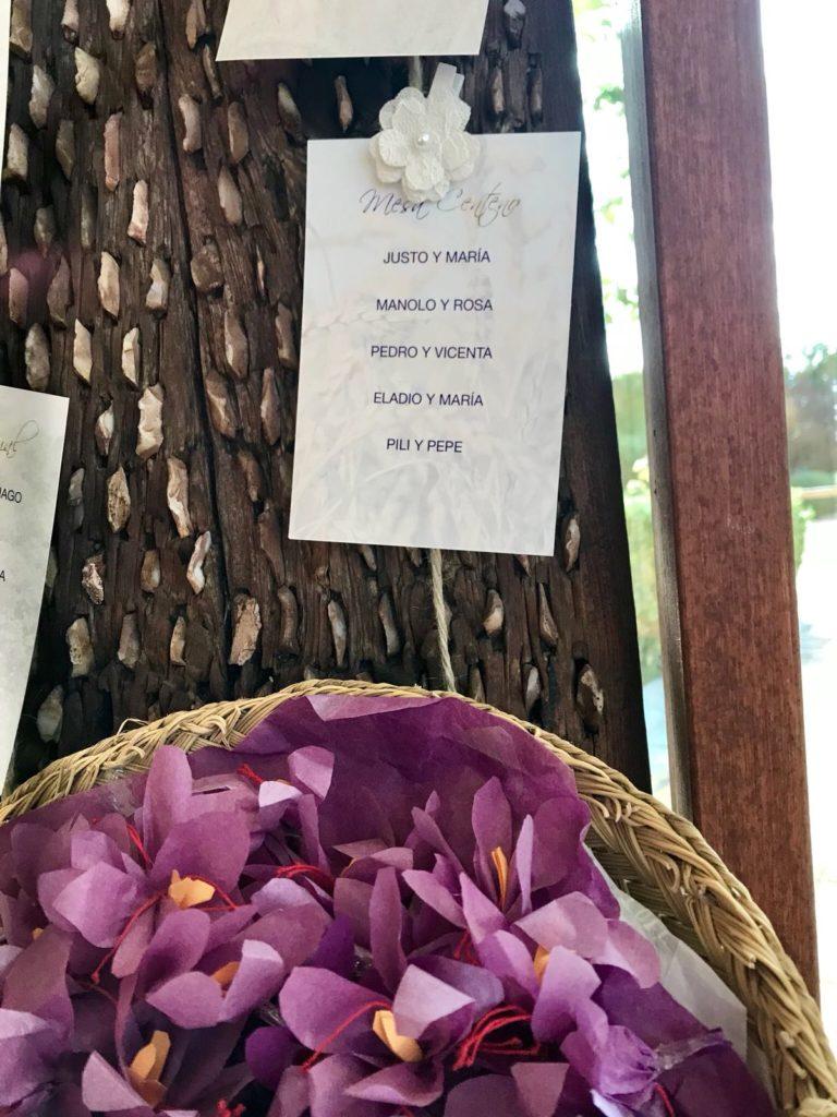 decoración en las bodas