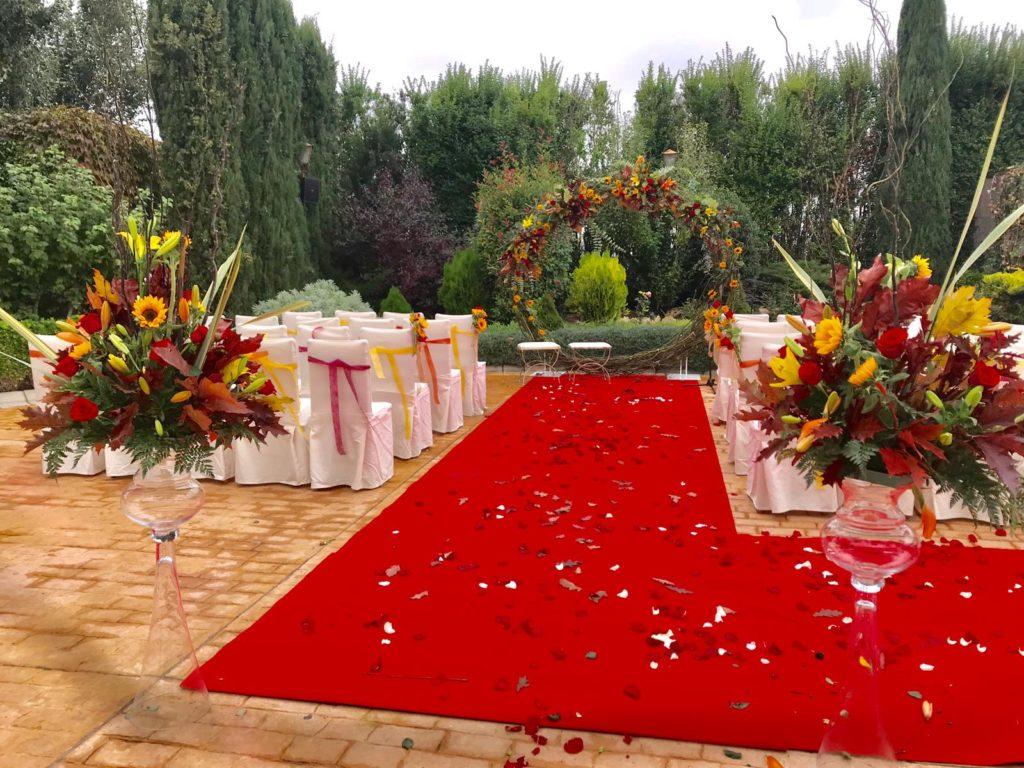 una boda completa alfombra