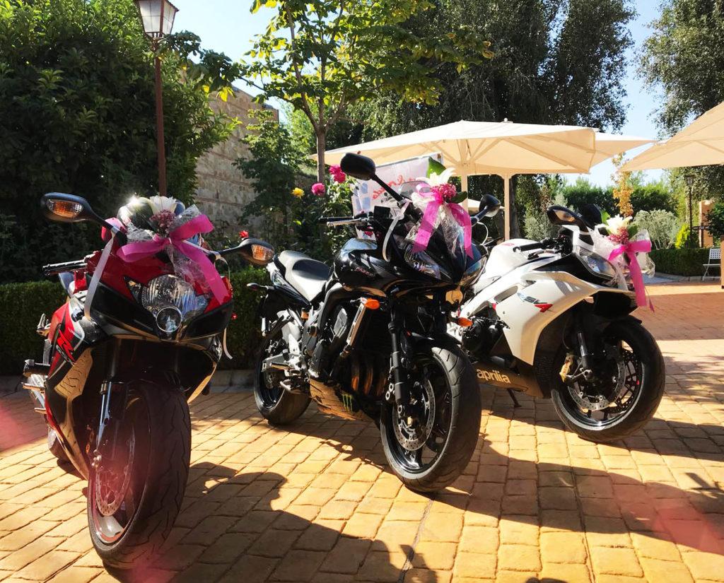una boda a todo gas motos