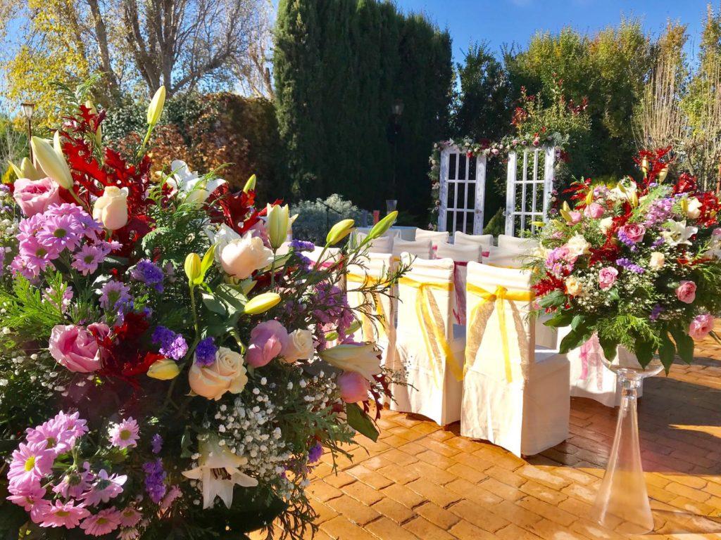 boda otoñal altar