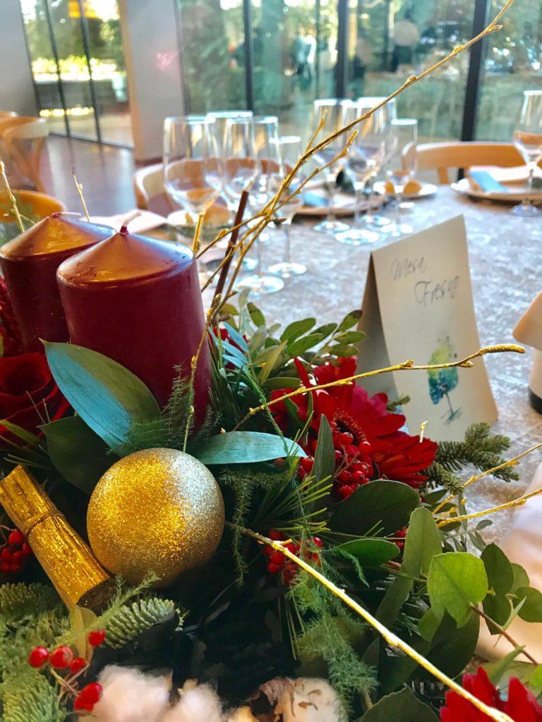 una boda muy navideña detalle mesa