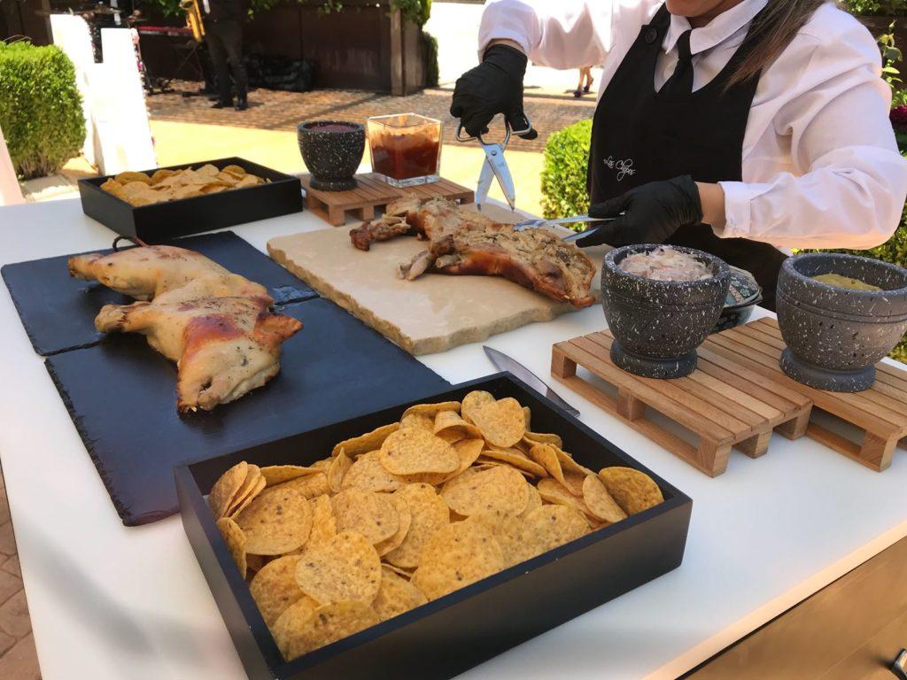 Mesas buffet cochinillo