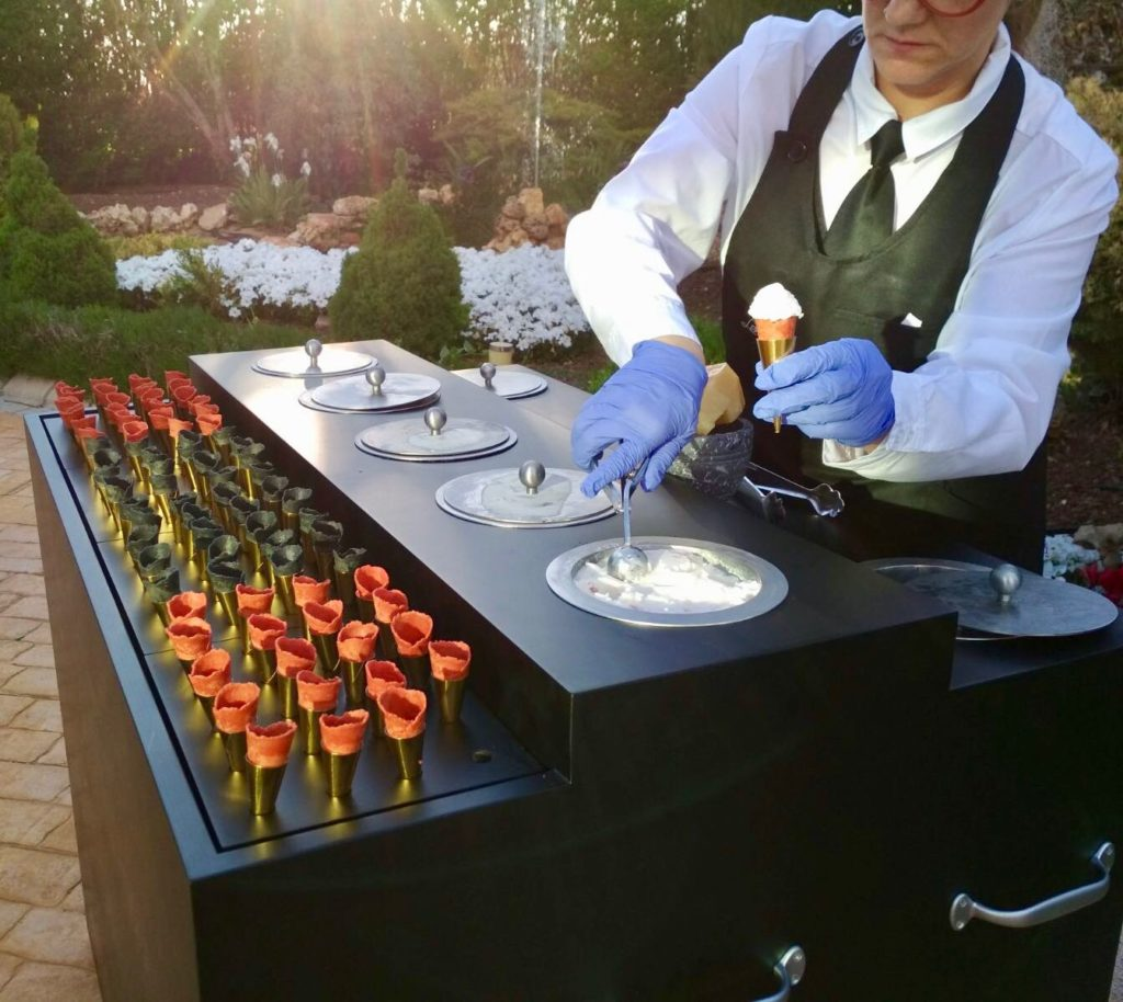 mesas buffet helados