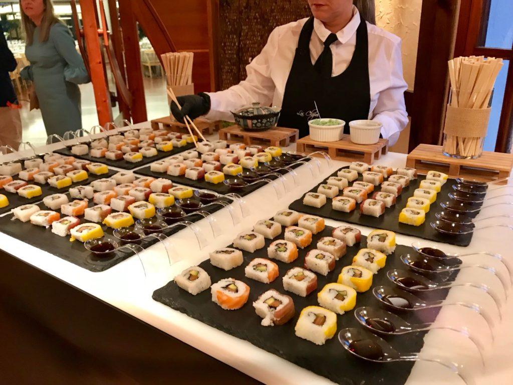 Mesas buffet sushi