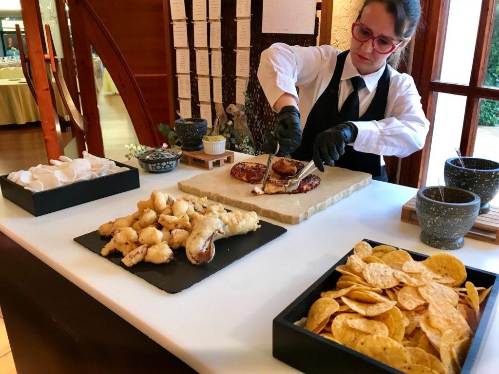 Mesas buffet pulpo