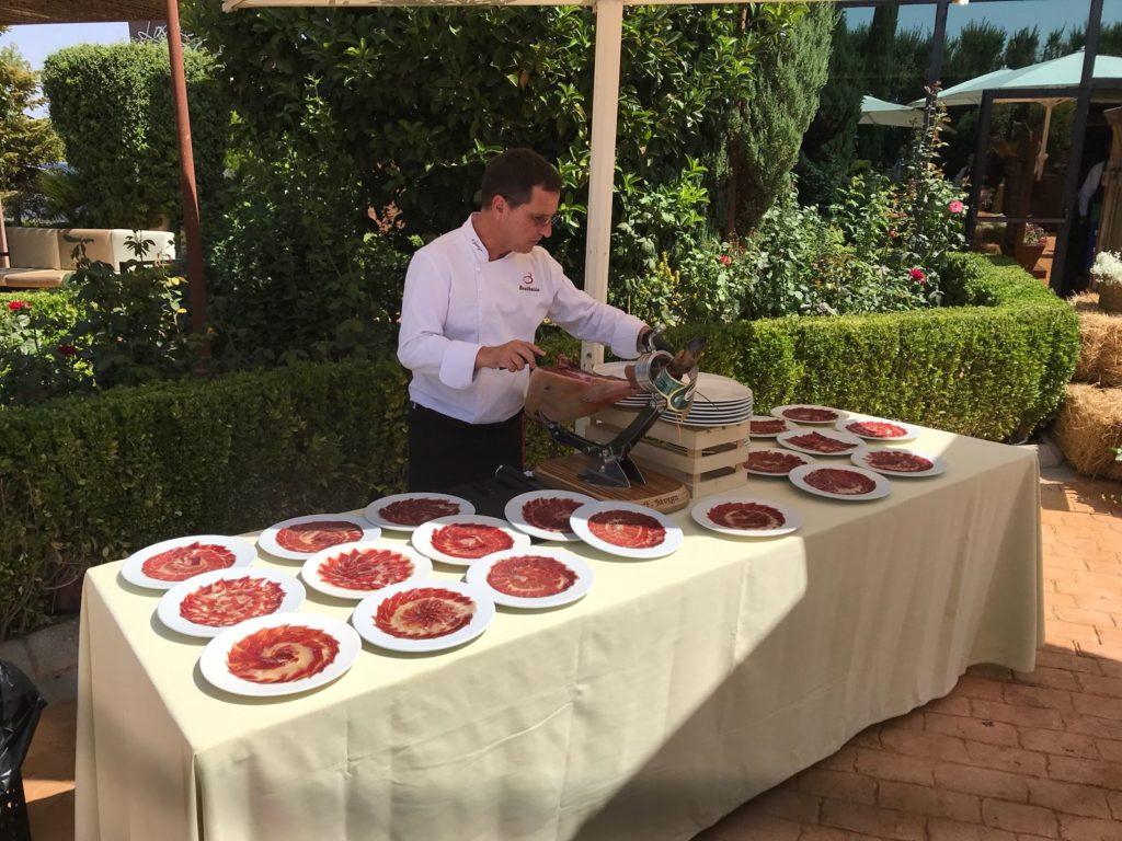 mesas buffet jamon
