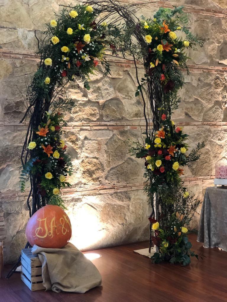 photocall de bodas primaveral