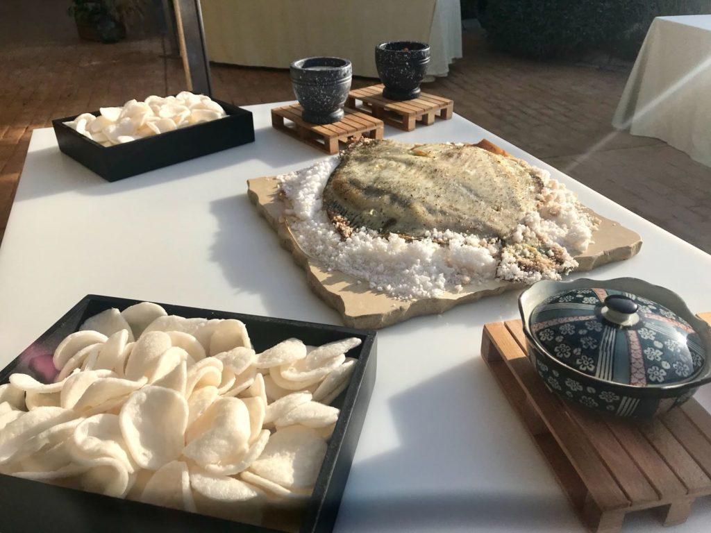 mesas buffet rodaballo